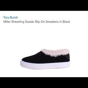 6538673f96673a Tory Burch Shoes - Tory Burch - Miller Shearling Slip Ons - Black
